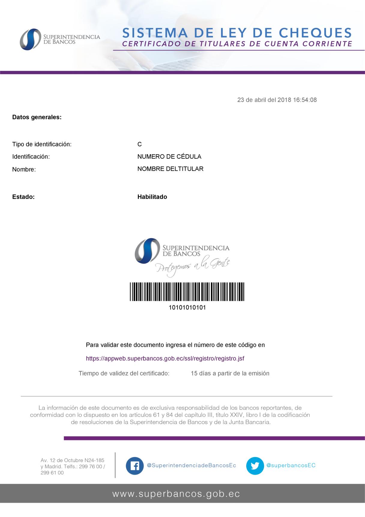 cuentas corrientes  u2013 superintendencia de bancos